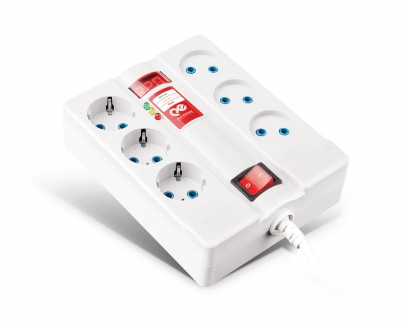 محافظ ولتاژ دیجیتال 6 خانه 1.8 متر پارت الکتریک