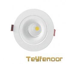 چراغ سقفی توکار قابل تنظیم 7 وات فلت EDC